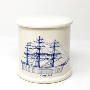 Cutty Sark Vintage Ceramic Canister Jar Nautical
